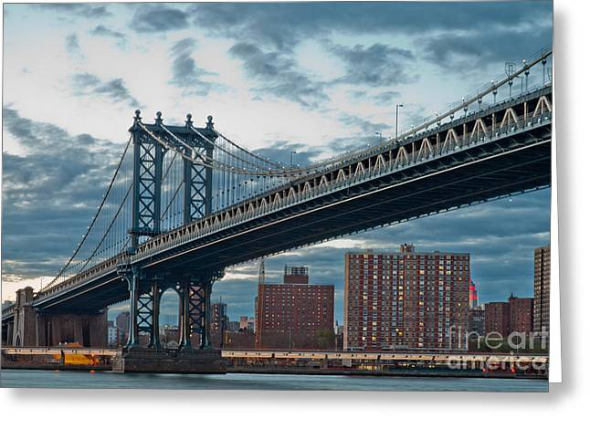 Manhattan Classic Greeting Card by Az Jackson