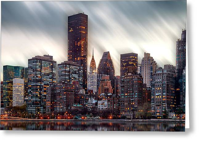 Manhattan Daze Greeting Card by Az Jackson
