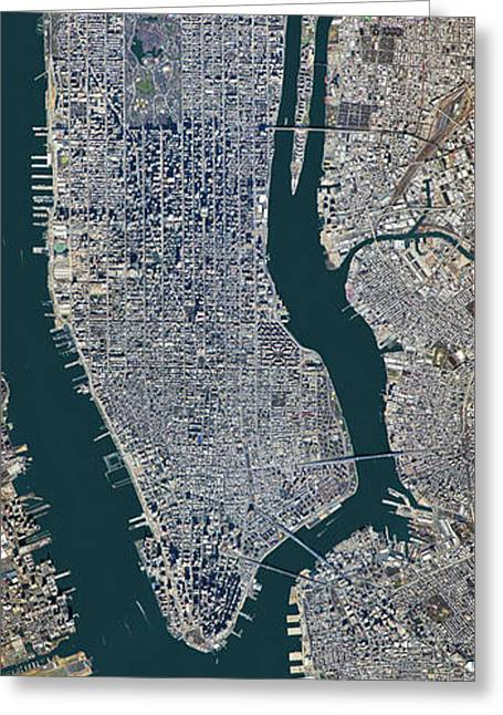 Manhattan From Above Greeting Card