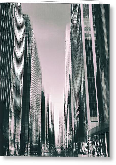 Manhattan Metropolis Greeting Card by Jessica Jenney