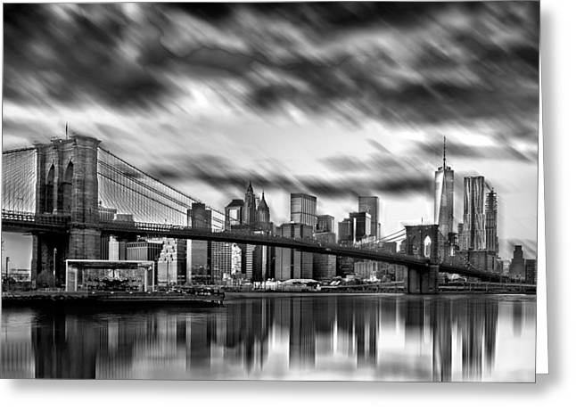 Manhattan Moods Greeting Card by Az Jackson
