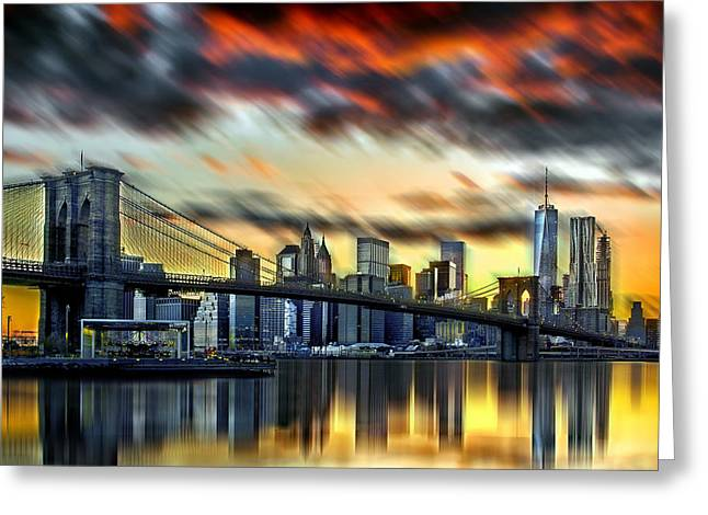 Manhattan Passion Greeting Card by Az Jackson