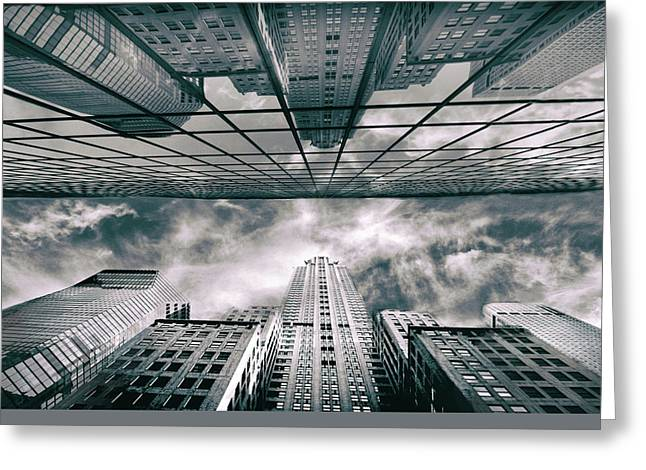 Greeting Card featuring the photograph Manhattan Reflections by Jessica Jenney