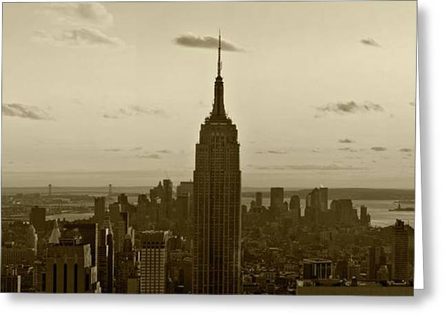 Manhattan Sky View Greeting Card by Terry Cork