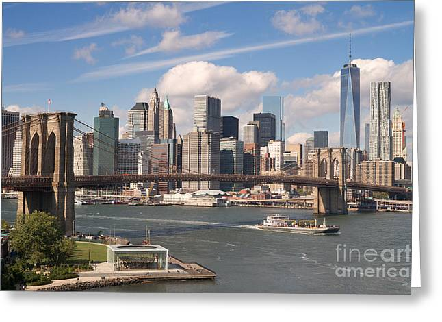 Manhattan Skyline Greeting Card by Bryan Attewell