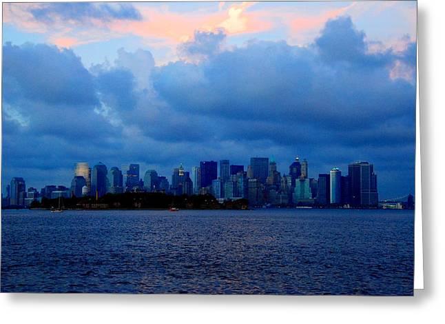 Manhattan Skyline I Greeting Card by Fareeha Khawaja