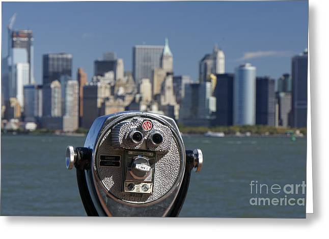 Greeting Card featuring the photograph Manhattan Skyline New York  by Juergen Held