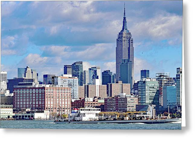 Manhattan Skyline No. 7-1 Greeting Card by Sandy Taylor
