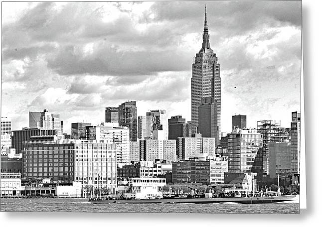 Manhattan Skyline No. 7-2 Greeting Card by Sandy Taylor