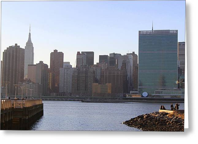 Manhattan Skyline - The View From Gantry Plaza State Park Greeting Card
