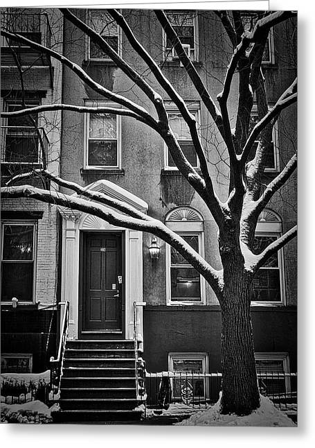 Manhattan Town House Greeting Card by Joan Reese