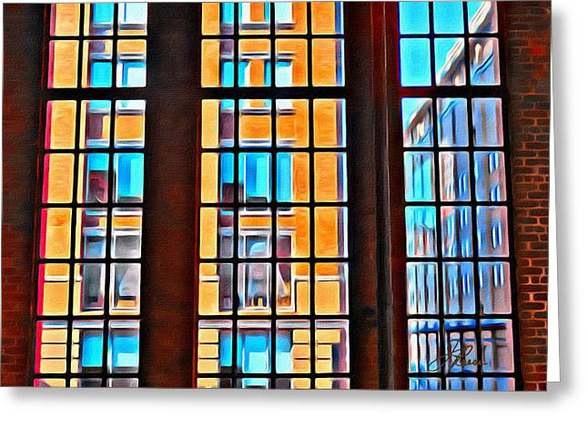 Manhattan Windows Greeting Card