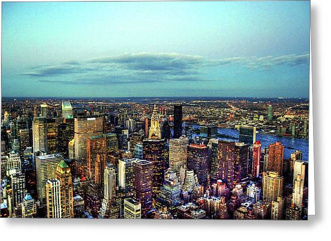 Manhattan's Upper East Side Greeting Card by Randy Aveille