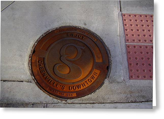 Manhole I Greeting Card by Flavia Westerwelle