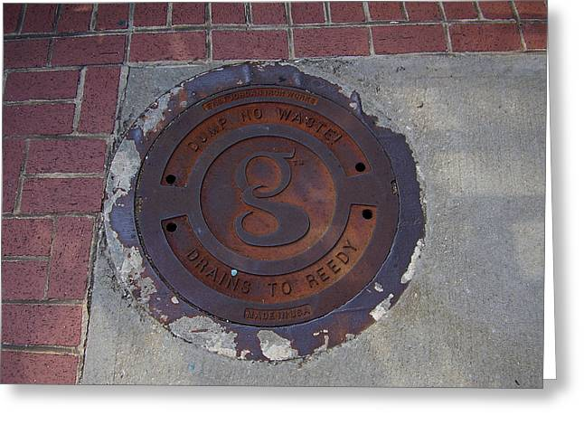 Manhole II Greeting Card by Flavia Westerwelle