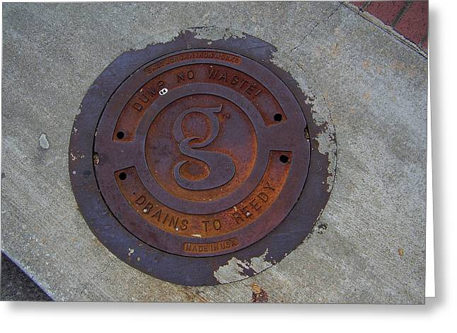 Manhole IIi Greeting Card by Flavia Westerwelle