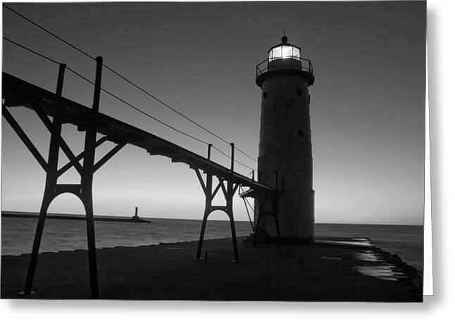 Manistee Michigan Pier Greeting Card by Twenty Two North Photography