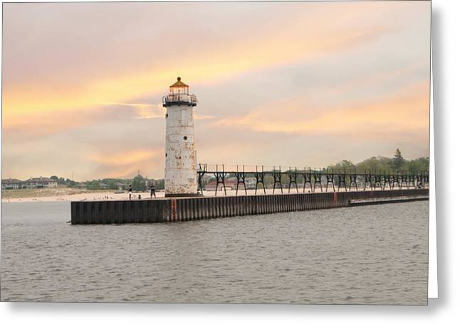 Manistee North Pierhead Lighthouse Greeting Card