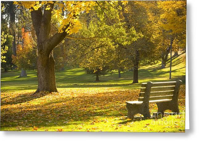 Manito Morning Greeting Card by Idaho Scenic Images Linda Lantzy