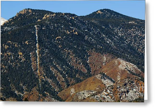 Manitou Incline Photographed From Red Rock Canyon Greeting Card
