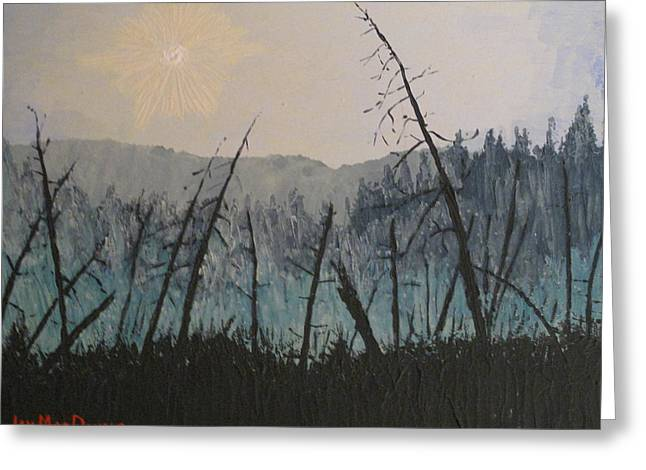 Greeting Card featuring the painting Manitoulin Beaver Meadow by Ian  MacDonald