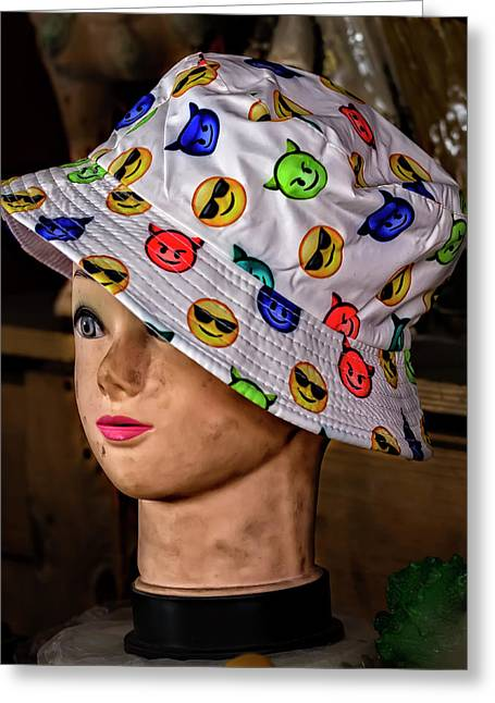 Mannequin Head And Hat Greeting Card by Robert Ullmann