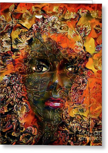 Mannequin Portrait 1 Greeting Card by Amy Cicconi