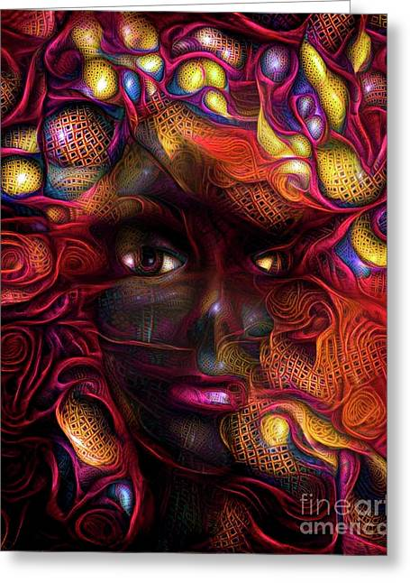 Mannequin Portrait 3 Greeting Card by Amy Cicconi