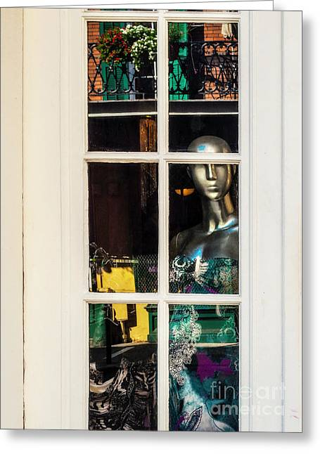 Mannequin Reflecting Greeting Card