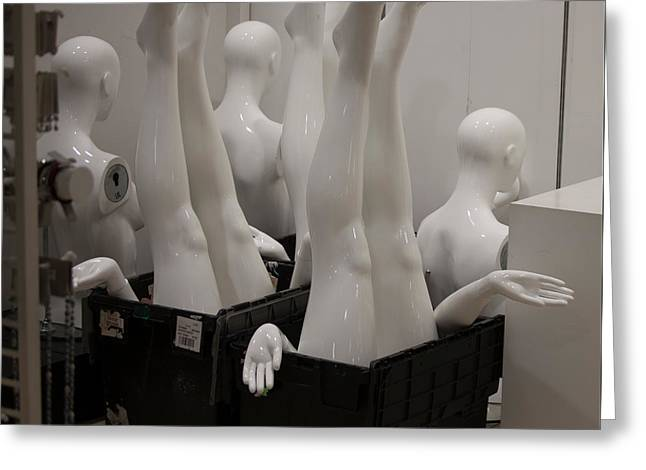 Mannequins Greeting Card by Beverly Cash