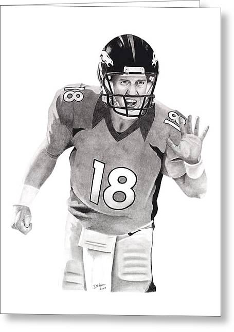 Manning Bronco Greeting Card by Devin Millington
