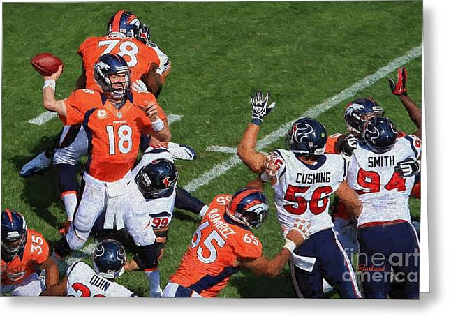 Manning Passing Over Their Heads Greeting Card by Garland Johnson