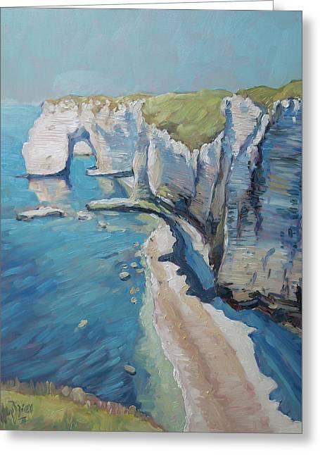 Manneport, The Cliffs At Etretat Greeting Card