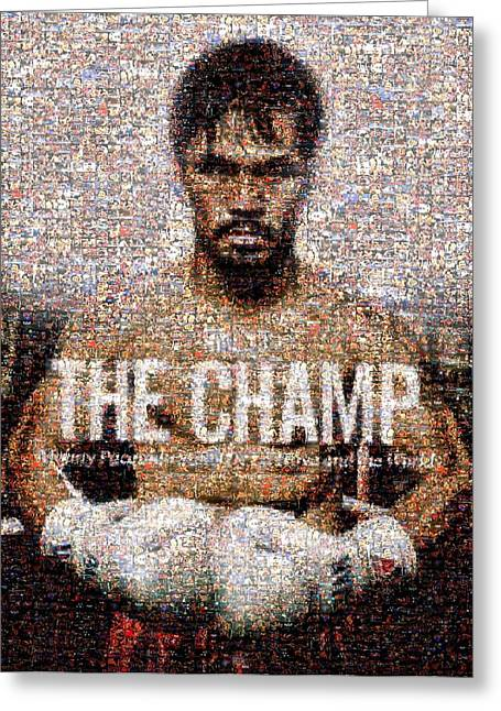 Manny Pacquiao-the Champ Greeting Card by Ted Castor