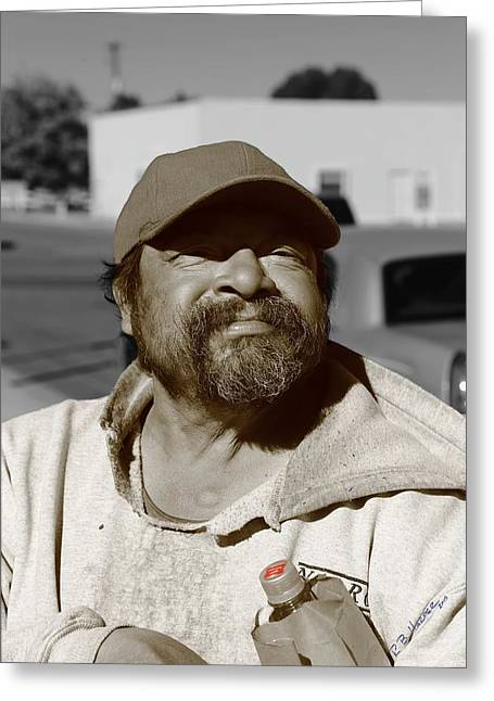Greeting Card featuring the photograph Manny by R B Harper