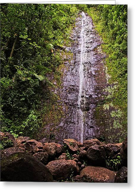 Manoa Waterfall Greeting Card
