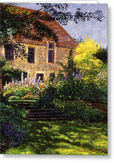 Manor House Steps Greeting Card by David Lloyd Glover