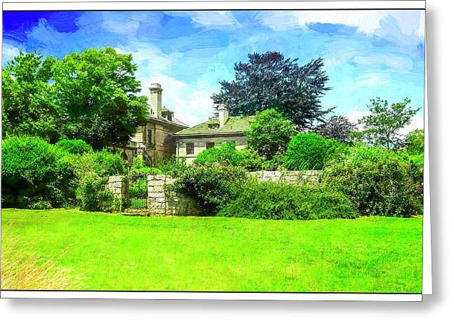 Mansion And Gardens At Harkness Park. Greeting Card