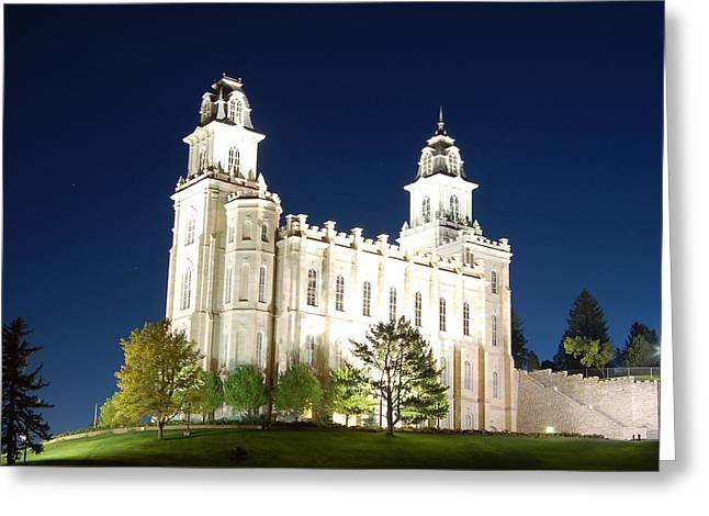 Salt Lake City Temple Greeting Cards - Manti Temple Greeting Card by John Wunderli