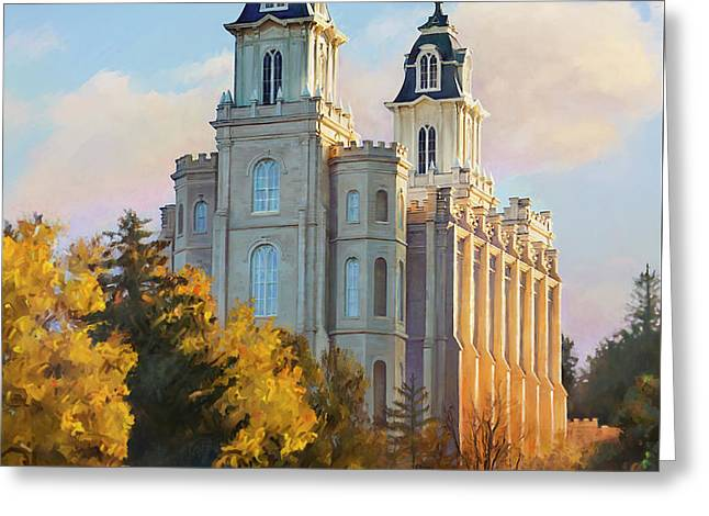 Manti Temple Tall Greeting Card