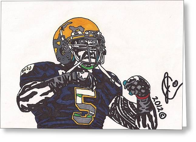 Manti Te'o 1 Greeting Card by Jeremiah Colley
