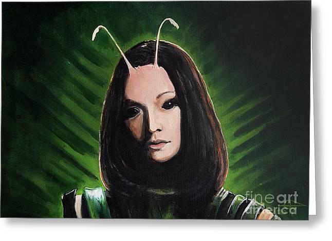 Mantis Greeting Card by Tom Carlton