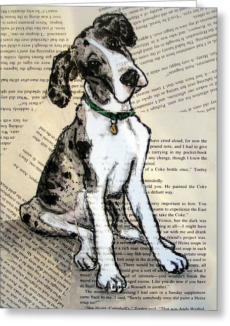 Mantle Merle Great Dane Puppy Nora Greeting Card by Christas Designs