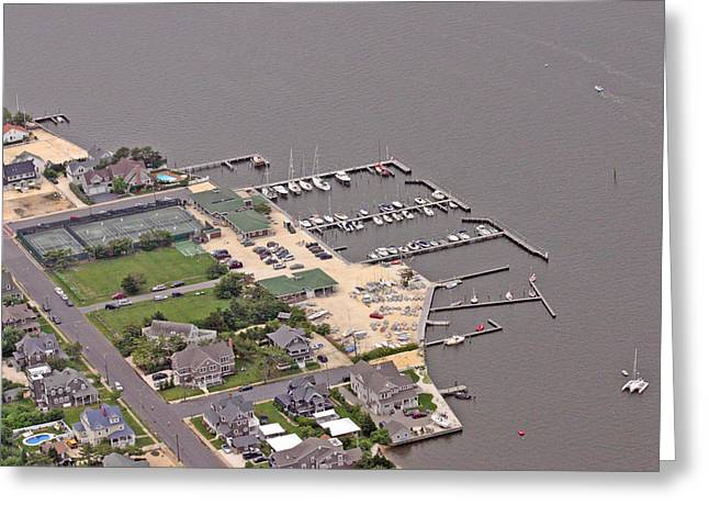 Mantoloking Yacht Club Mantoloking New Jersey Greeting Card by Duncan Pearson