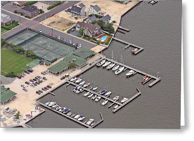 Mantoloking Yacht Club Mantoloking New Jersey II Greeting Card by Duncan Pearson
