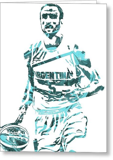 Manu Ginobili Argentina Pixel Art Greeting Card