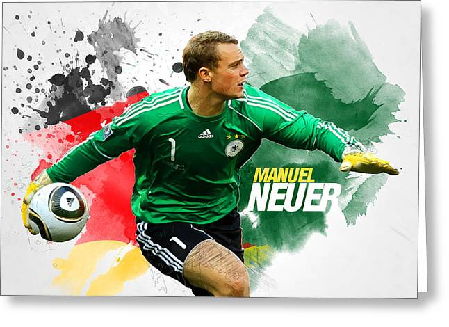 Manuel Neuer Greeting Card by Semih Yurdabak