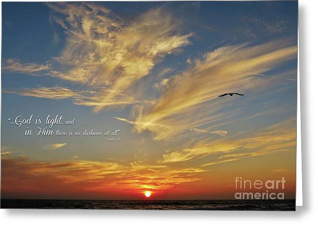 Many Colored Sunset Greeting Card by John Groeneveld