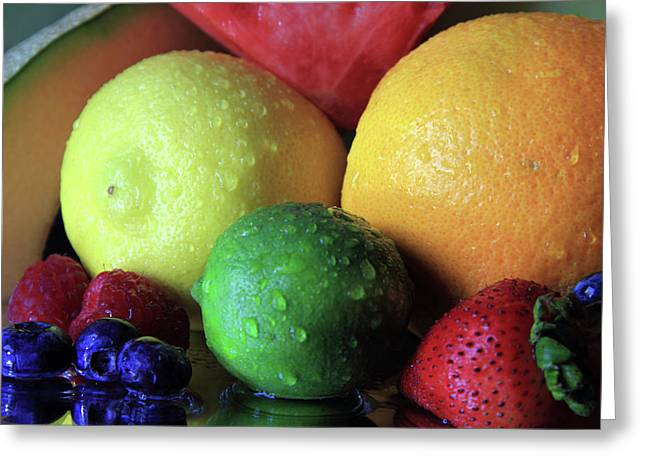 Many Colors Of Fruit Greeting Card