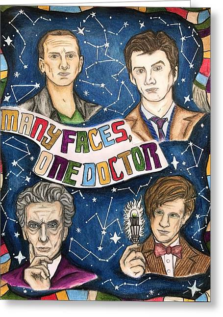 Many Faces, One Doctor  Greeting Card